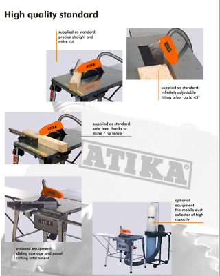 BELLE ATIKA HT 315 TABLE SAW, CIRCULAR, BENCH, 240V, 3kW engine