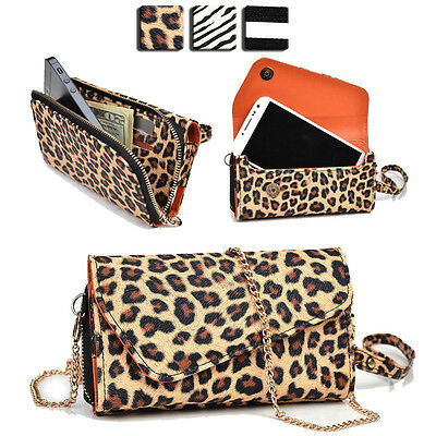 Wild Trim Protective Wallet Case Cover & Crossbody Clutch for Smart-Phones MUS20