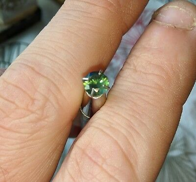 .7ct 5mm green unheated sapphire with video