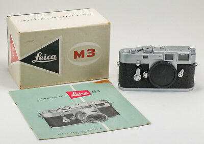 Leica M3 SS #1065... w/cap booklet (SP) case box, awesome condition (13)
