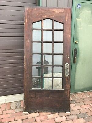 Mar 30 Antique Oak Entrance Door Arts And Crafts 35 And Three-Quarter By 79.5