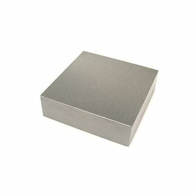"""Solid Steel Jewellers Bench Block 3.0"""" x 3.0"""" x 0.5"""" Dapping Doming Hammering"""
