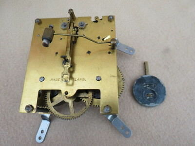 Lot 21 Smiths 8 Day Striking Clock Movement Hands And Pendulum