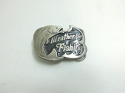 Vintage 1978 Great American Belt Buckle Co / I'd Rather Be Fishing Limited Editi