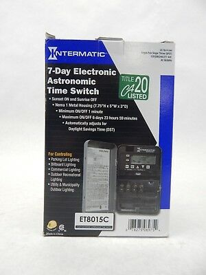 Intermatic Inc. Et8015C 7 Day Electronic Astronomic Time Switch Spst Free Ship