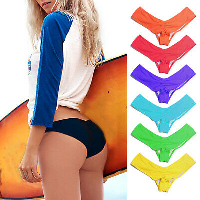Women Bikini Brazilian Cheeky Bottom Thong V Swimwears Swimsuits Panties Briefs