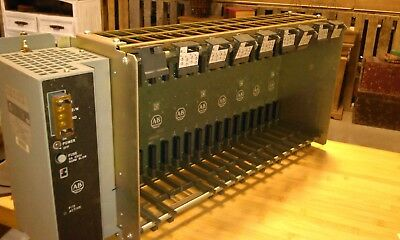 Allen Bradley 1771-P7 B Power Supply And 1771-A4B I/o Chassis