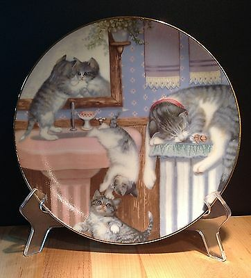 Country Kitties 'Mischief Makers' by Gre' Gerardi 1988 Hamilton Plate Collection