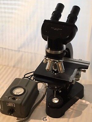 LEITZ LABORLUX MICROSCOPE and light source transformer