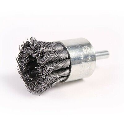 "5 Pack - 1-1/8"" Wire Knot End Brush Carbon Steel 1/4"" Shank for Die Grinder"