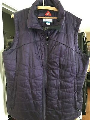 Columbia Omni Shield Quilted Jacket Vest Womens 2XL Purple