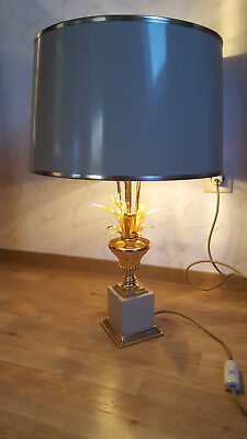 70er Messing Tisch Lampe Palme - palm table lamp in Design of Maison Charles.
