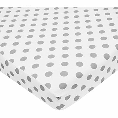 100% Cotton Home & Kitchen Features Percale Fitted Mini Crib Sheet, White With