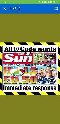 The Sun Holiday BookingAll 5 Code Words
