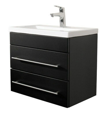 badm bel waschtisch g ste wc 60 cm keramik waschbecken schwarz seidenglanz eur 1 00 picclick de. Black Bedroom Furniture Sets. Home Design Ideas