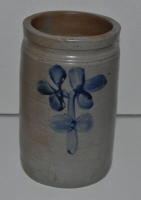 Crock #1  Peter Herrman Blue Decorated Crock, Baltimore, C. 1850-1900