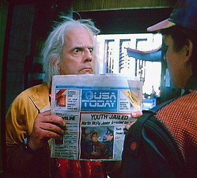 USA Today Back To The Future Newspaper LOT October 22 2015 Jaws Pepsi Next BTTF