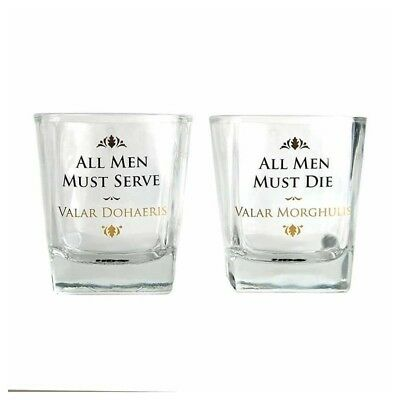 Set di 2 Bicchieri in vetro Game Of Thrones - All Men must die 250 ml