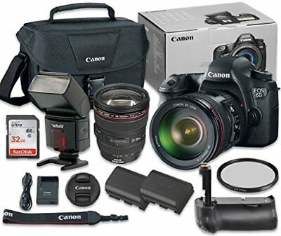 Canon EOS 6D with EF 24-105mm f/4 L IS USM Lens + SanDisk 32GB + Accessory Kit
