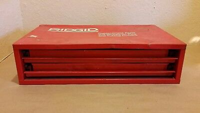 Lot RIDGID Pipe and Tubing Cutter Parts 168 Pieces 2 Drawer Cabinet Replacement
