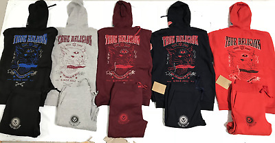 Men's True Religion Sweat Suit Top And Bottom Free Shipping Brand New