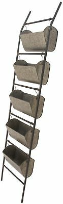 Studio 350 Metal Leaning Planter 17 Inches Wide, 73 Inches High