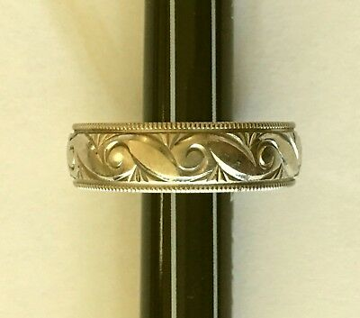 SOLID 10K WHITE GOLD SIZE 10 RING * 4.19 GRAMS * STAMPED 10K F <Triangle? G?> *