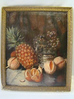 "HsT ""Nature morte aux fruits"" XIXème, 56 x 46 cm."