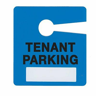 Milcoast Tenant Parking Pass Hang Tags for Landlords, Apartments 10 Pack Plastic