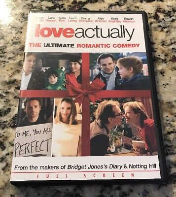 Love Actually (DVD, Full Screen) Free First Class Shipping