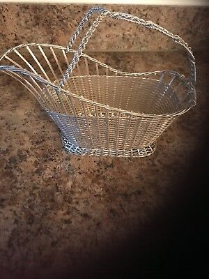 Vintage Signed Christofle France Collection Gallia Silver Plate Wine Basket