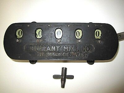 W.n. Durant Manufacturing Co. 5 Digit Industrial Counter With Reset Key Works!