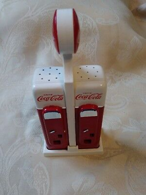 Vintage Coca Cola Salt and Pepper Shakers Gas Station Vending Machine 1993