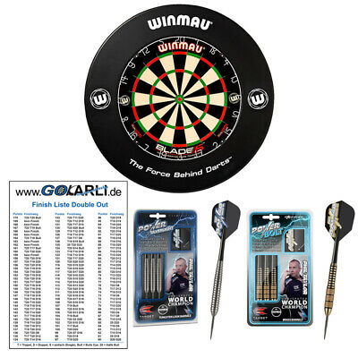 Winmau Blade 5 Dual Core Dart Board & Surround & Target Phil Taylor Steeldart