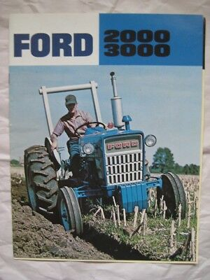 FORD 2000 / 3000 TRACTORS 12 Page Brochure plus 3400 Pamphlet