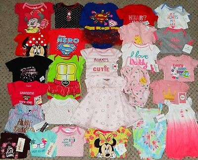 NEW HUGE LOT OF NEWBORN BABY GIRL CLOTHES 0-6 MONTHS Spring Summer Outfits Dress