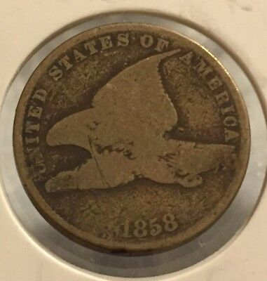 1858 U.S. Flying Eagle Cent Small Letters  ~ #64