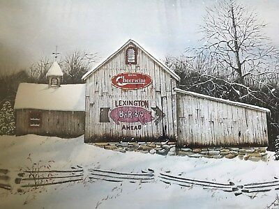 Print Signed by Lanny Johnson, Lexington Bar-B-Q Ahead, Drink Cheerwine, Lex. NC