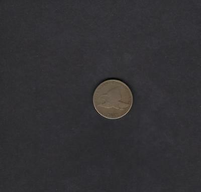 US 1857 Flying Eagle One Cent Coin in AG to Good Condition