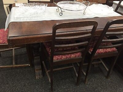 Antique Dinning Setting And Sideboard