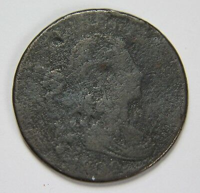 1800 Draped Bust Large Cent Penny Old US Coin NR Free Ship P1R B076