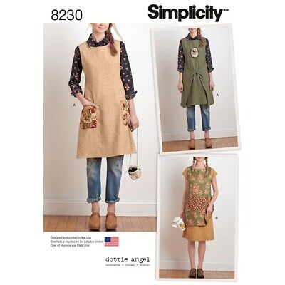 Simplicity Pattern 8230 Misses' Dress or Tunic Dottie Angel A XS - XL