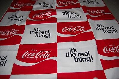 Vintage COCA COLA COKE Fabric 7' x 3 1/2' Brand New Out of Print Hard to Find