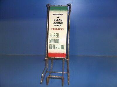RARE 1959 Vintage TEXACO Super Motor Detergent Display Rack Gas Oil Collectible