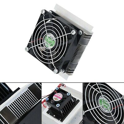 Thermoelectric Peltier Refrigeration Cooling System Kit Cooler Fan DIY 12V 60W