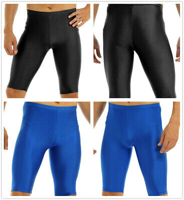 Mens Quick Dry Compression Square Leg Swimsuit Boxer Shorts Bodyleg Swim Trunks