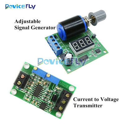 Adjustable Current Signal Generator DC 0.1mA/4-20mA to 0-24V Voltage Board