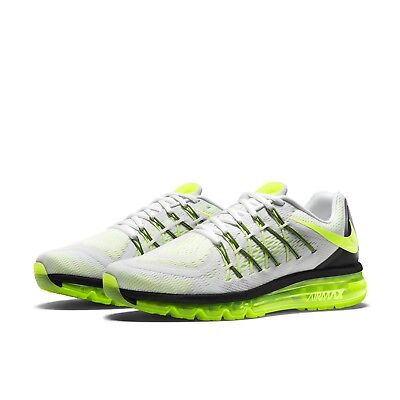 Nike AIR MAX 2015 Mens Sneakers 698902-107 White/Volt-Black Size 6.5