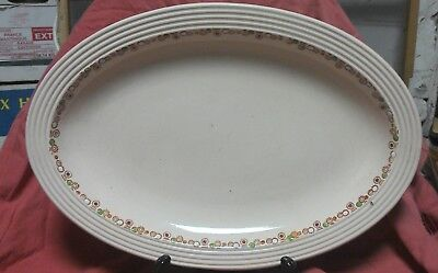 Grand plat oval LONGWY modèle BETTY