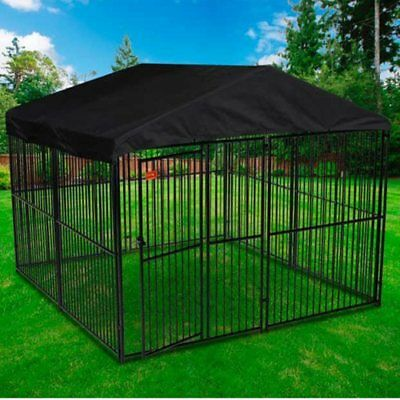 Lucky Dog European Style Kennel, NO TAX, w/Cover & Frame 6' H x 10' L x 10' W